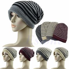 bf45558555a Unisex Men Women Hip-Hop Warm Winter Knit Ski Cap Baggy Beanie Skull Slouchy  Hat