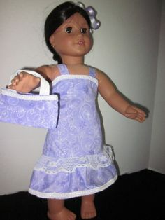 American Girl 18 Inch Doll Dress Purse And by SweetpeasBowsNmore