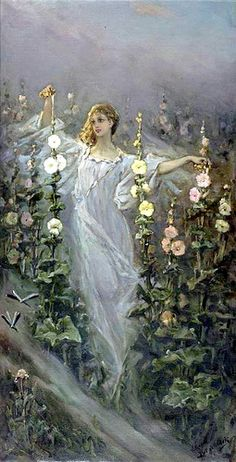Vasily Alexandrovich Kotarbinsky, (Russian,1849-1921). Spirit of Springtime.