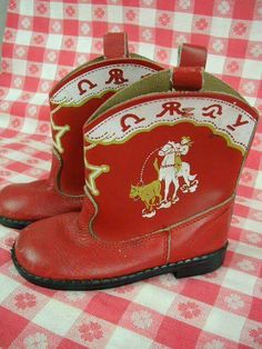 Red Cowboy Boots, Red Boots, Cowboy And Cowgirl, Vintage Shoes, Vintage Outfits, Vintage Fashion, Vintage Stuff, Vintage Clothing, Cowboys And Indians