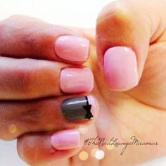 Bow gel nail art - with yellow instead of pink
