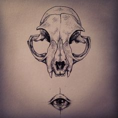 Things for a thing #art #illustration #drawing #cat #skull #eye by Peter Carrington, via Flickr