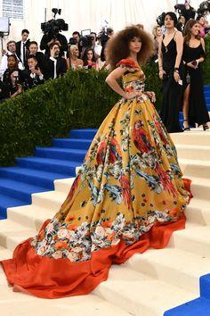 Zendaya in Dolce & Gabbana Alta Moda - Met Gala 2017 celebrating Comme des Garçons's Rei Kawakubo