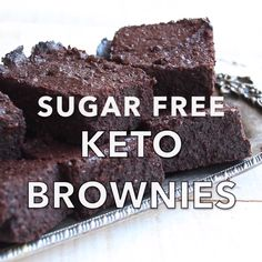 The fudgiest, most chocolatey Keto brownies ever. This simple low carb and sugar free recipe makes perfect brownies time after time. Gluten free and diabetic-friendly.