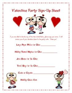 0828b2ec7017e7c3a4e1938c805de1bf Valentine S Party Letter To Parents Template on for party, box project, ice cream party classroom, free printable,