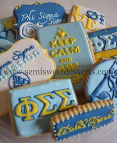 Phi Sigma Sigma cookies