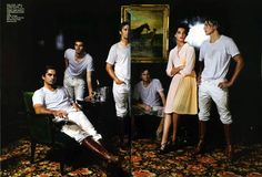 """The Leading Lady"" Vogue editorial, photographed by Mario Testino, 7.  Now THAT'S a polo club. :p"