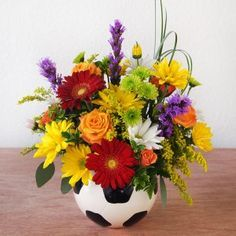 how to make floral volleyball arrangement - Google Search