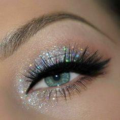 Makeup Eye Looks, Eye Makeup Art, Cute Makeup, Angel Makeup, Movie Makeup, Clown Makeup, Angel Halloween Makeup, Fairy Costume Makeup, Fairy Eye Makeup