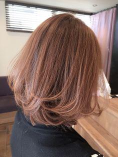 One Length Hair, One Hair, Medium Hair Cuts, Medium Hair Styles, Short Hair Styles, Japanese Perm, Ash Blonde Hair, Medium Bob Hairstyles, Long Bob