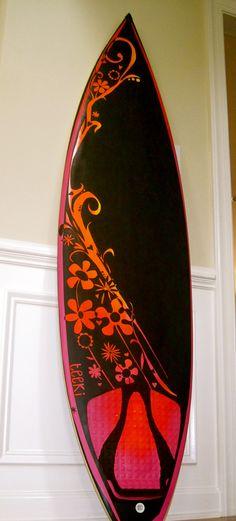 the front of the teeki surfboard