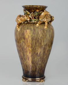 Jay Strongwater Leopard Vase