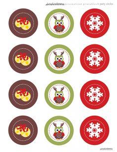 Owl Bells Party Circles_14Dec freebie download