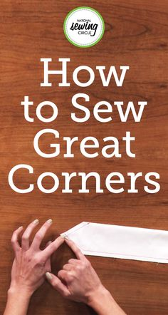 Stephanie Ohnmacht shows you how to best turn corners when sewing your fabrics. Learn from these step by step instructions how to trim, eliminate the bulk in the fabric, and create a strong corner that is structured! Use these simple tricks to ensure quality pieces.