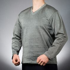 BitePRO® Bite Resistant Sweatshirts offer excellent protection and resistance to the entire upper body, preventing human bites. Human Teeth, Special Educational Needs, Suit Shirts, Long Gloves, Upper Body, Gray Color, Men Sweater, V Neck, Unisex