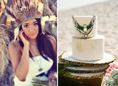 Wednesday Wedding Inspiration: Native American Inspiration / Lukas and Suzy Photography / Lavender and Twine Photography / Bespoke-Bride