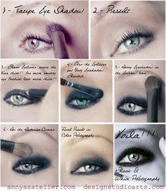Aphotetic Co: eye makeup tutorial Contour Makeup, Makeup Set, Love Makeup, Simple Makeup, Skin Makeup, Eyeshadow Makeup, Makeup Tips, Smoky Eyeshadow, Dark Makeup