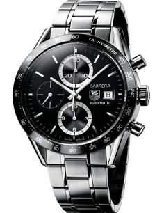 I wear this gents Tag Heuer Carrera and love it! Perfect for the chic lady too.