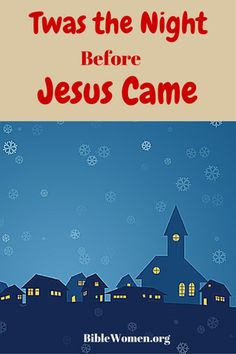 It's just a picture of Crush Twas the Night Before Jesus Came Printable
