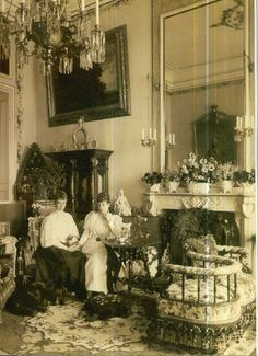 Queen Alexandra and sister, Thyra.