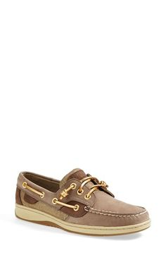 Sperry Top-Sider® 'Ivyfish' Boat Shoe (Women) available at Nordstrom. Size 8. Color: Greige/Gold (pictured).