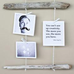 Hang it in between driftwood. #gallerywalls #homedecor