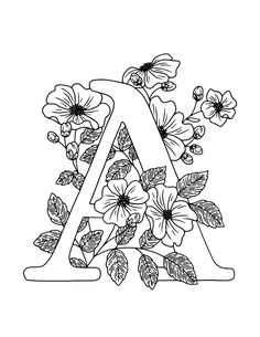 Alphabet Coloring Pages, Coloring Book Pages, Printable Coloring, Coloring Pages For Kids, Coloring Set, Alphabet Book, Color Activities, Fun Activities For Kids, Line Artwork