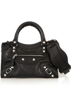 bb7555308f Balenciaga - City mini textured-leather shoulder bag