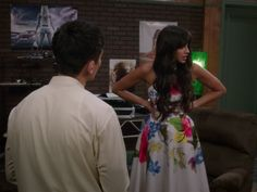 Tahani Al-Jamil's Corpina Forget Me Not Halterneck Dress on The Good Place