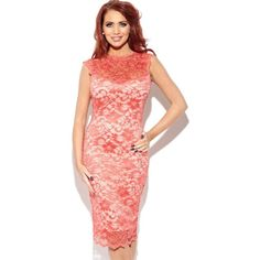 Amy Childs Lexie Sleeveless Lace Bodycon Dress ($99) ❤ liked on Polyvore