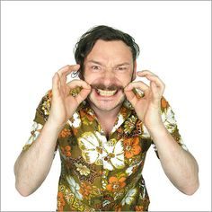 Howard Moon (played by Julian Barratt) from the Mighty Boosh. Mighty Mighty, The Mighty Boosh, Julian Barratt, Noel Fielding, Through Time And Space, Comedy Tv, Together Forever, Moustache, Beautiful People