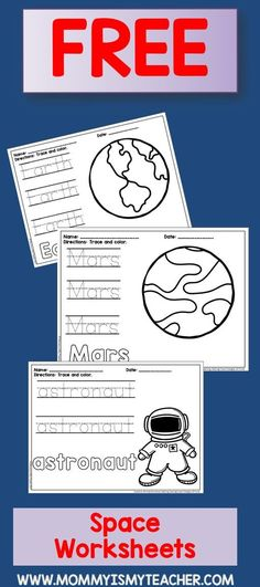 My Book of Space Words Printable Book free printable http