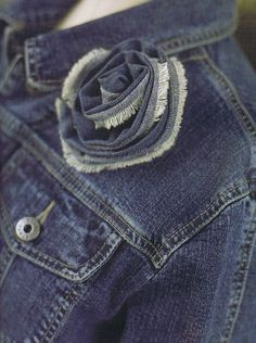 DIY denim flower