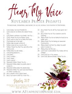 November's prayer journal prompts are here. These prayer journal prompts are the perfect way to start journaling your prayers. Scripture Reading, Scripture Study, Journal Writing Prompts, Scripture Journal, Christian Journaling Prompts, Devotional Journal, Prayer Journals, History Channel, Prayer Topics