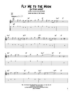 Bart Howard: Fly Me To The Moon (In Other Words) - Partition Tablature Guitare - Plus de 70.000 partitions à imprimer !