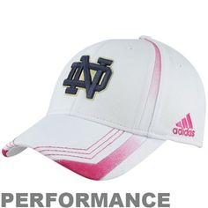 1672e80d8f8 adidas Notre Dame Fighting Irish Breast Cancer Awareness Players Sideline  Performance Flex Hat - White Go