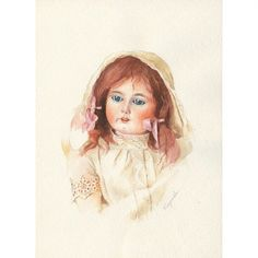 Антикварная кукла из коллекции кукол @natusiaturygina , работа выполнена акварелью, окончательный отсканированный результат))!!! Размер А3 (в частной коллекции)  #живописьтатьяныгладковой #живопись #акварель #искусство #арт#куклы #оформлениедетскойкомнаты#иллюстрация #антикварнаякукла #красотища #artlife #art#artist #artwork #aquarelle #water #watercolor #draw #picture #paint #painting #instaart #moscowfair#antiqudolls #antiquedolls #illustration