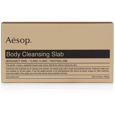 Aesop Body Cleansing Slab ($21) ❤ liked on Polyvore featuring beauty products, bath & body products, body cleansers, fillers, beauty, makeup, fillers - brown, brown fillers and aesop