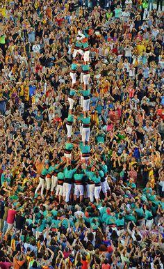 Castellers de Vilafranca - 3d9f al Concert per la Llibertat - Camp Nou (Barcelona) 29/juny/2013 - FREEDOM CATALONIA 2014 | Flickr - Photo Sharing!