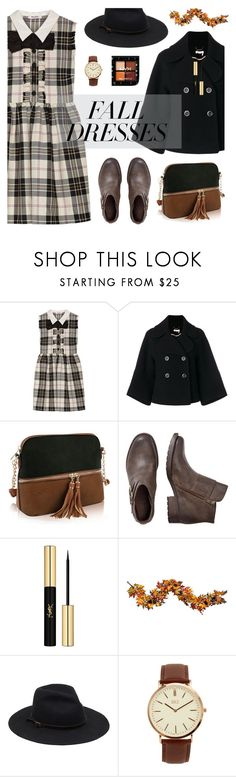 """Fall Dresses"" by nabilaclydea on Polyvore featuring Miu Miu, Chloé, Yves Saint Laurent, Improvements, BKE and falldresses"