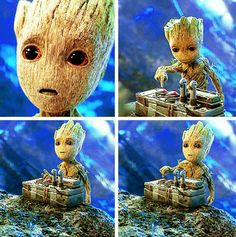(Noooo, not the destruct button Groot!) Baby Groot- Guardians of the Galaxy 2