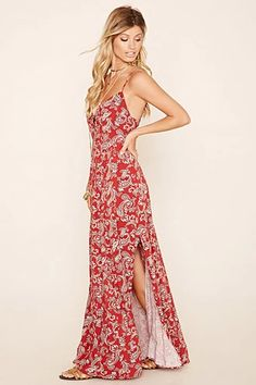 Paisely Lace-Up Maxi Dress @forever21