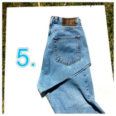 DIY High Waisted Denim Shorts, Step-by-Step Instructions (with pictures) | niftythriftygoodwill