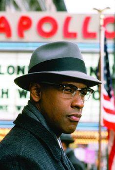 Denzel Washington as Malcolm X