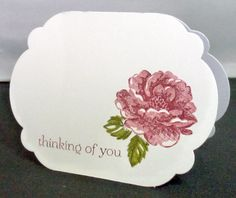 Stippled Blossoms, Labels Collection one layer card