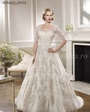 2014 Vintage High Neck Formal Evening Gowns Strapless Taffet…ther of the Bride Dresses with Crystals Bolero Jacket Ronald Joyce Wedding Dresses, 2015 Wedding Dresses, Wedding Dress Styles, Designer Wedding Dresses, Bridal Dresses, Wedding Gowns, Half Sleeve Wedding Dress, Backless Lace Wedding Dress, Perfect Wedding Dress