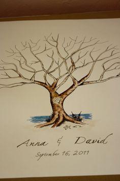 Custom bird order for Deanna Thumbprint Tree by jenniferjdesigns, $75.00