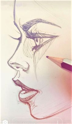 #dessin  #fille  #girl  #jolie  #pretty  #visage  #face  #crayon #art