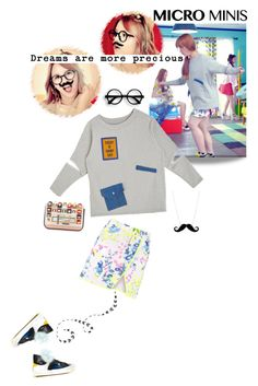 Like a fool, I can't say anything... by lydiarts on Polyvore featuring mode, Boohoo, Fendi, Tatty Devine, music, kpop, fendi, musicvideo and microminis