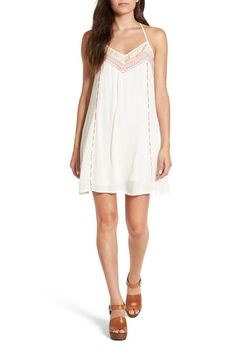 Band of Gypsies Embroidered T-Back Shift Dress available at #Nordstrom